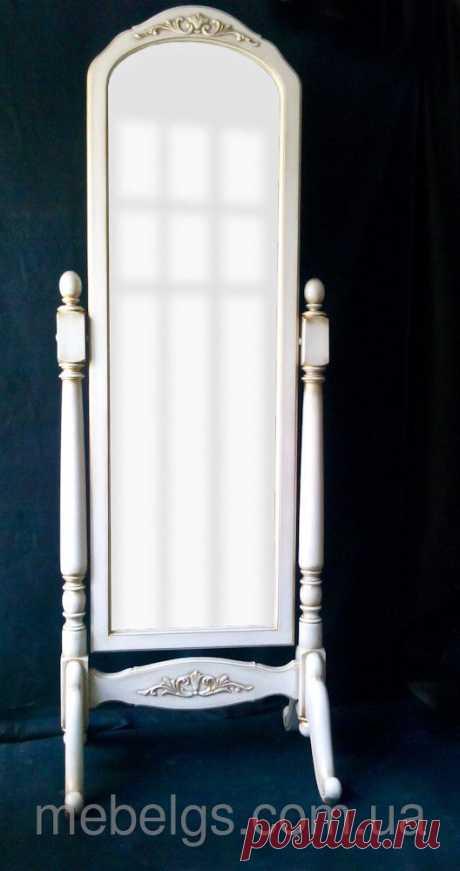 Зеркало напольное, размер 65*50*180см, материал ― ольха, тонирование по краям патиной.