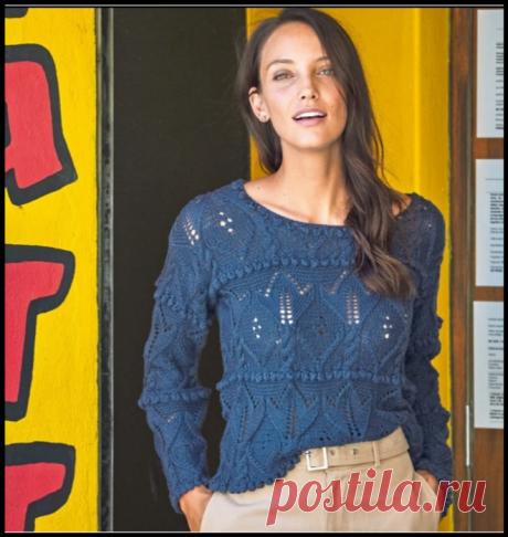 """Шикарные джемпера с обложки модного журнала """"Сабрина"""" - описание и схемы вязания!"""