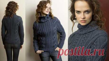 Женский свитер с косами схемы - Хитсовет