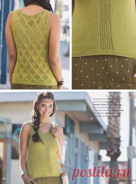 Вязание топа Bohemian, Knit wear ss 2014