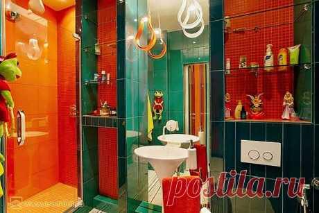 Яркие краски в интерьере ванной комнаты — Квартирный вопрос