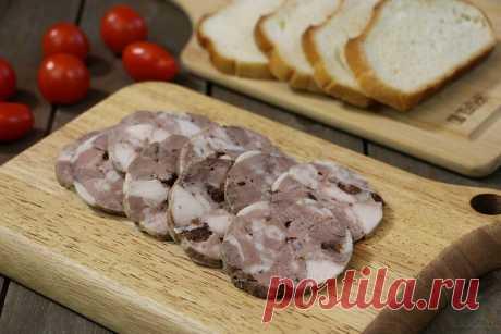 Прекрасная домашняя ветчина (колбаса) - в которой ничего кроме мяса и специй нет