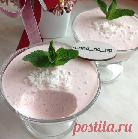 Клубничное творожно-йогуртное суфле - Советы и Рецепты #десерт #пп #рецепт #суфле