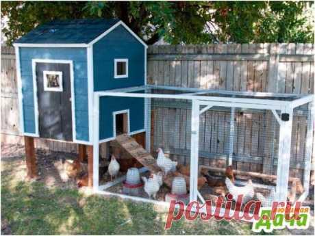 Интересный дизайн вольера для куриц на даче  Идеальный вариант для тех кто хочет держать курей на даче, но не имеет много места. Конечно, вместимость такого вольера не более 10 курочек, но думаю, этого вполне достаточно чтобы обеспечить себя свежими яйцами на весь сезон.  Удачи на даче!