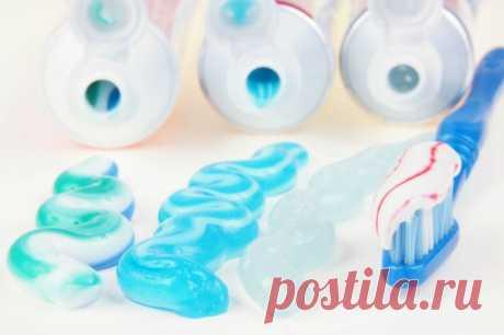 Зубная паста в хозяйстве