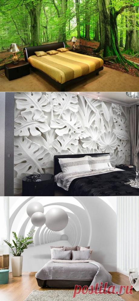 Как оформить спальню с помощью 3D-обоев