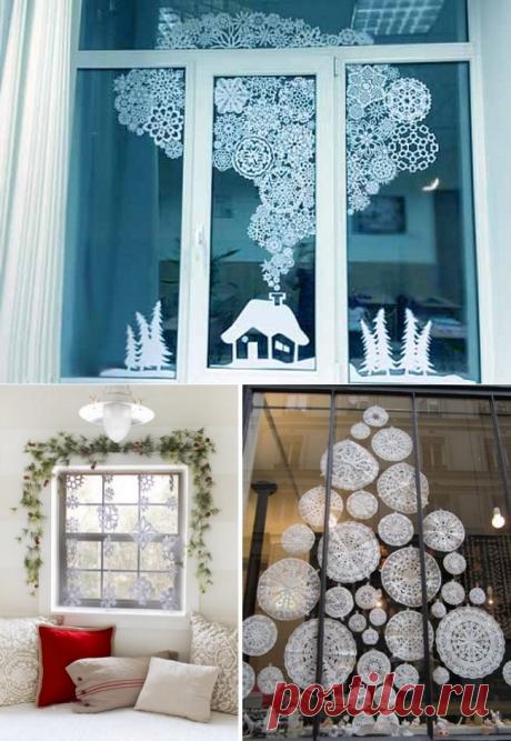 Maravilloso elochka y todavía 8 ideas, como adornar la casa con los copos de nieve de papel — Kidsomaniya