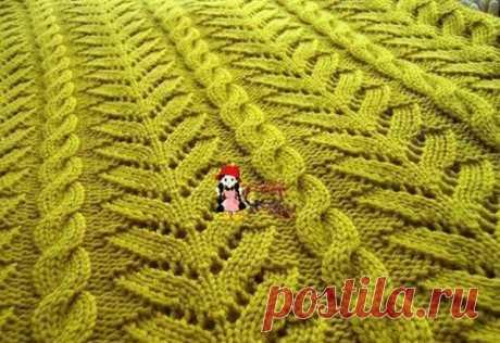 Рельефный узор для пуловера