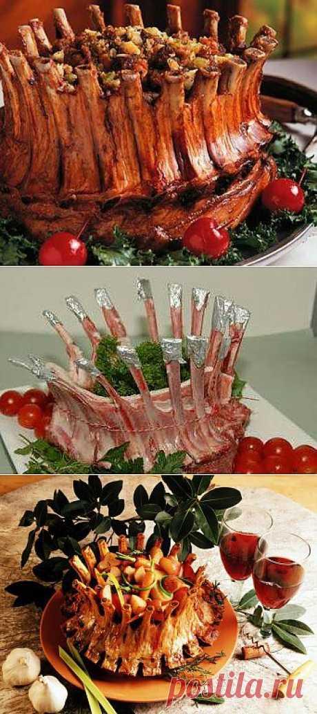 К новогоднему столу: корона из свиных или бараньих ребрышек | Наш уютный дом