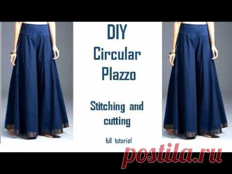DIY Circular Plazzo Stitching and cutting full tutorial