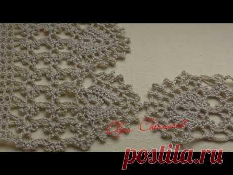 Кайма крючком для обвязки пледа. Видео МК - запись пользователя Наталья (Наталья) в сообществе Вязание крючком в категории Вязаные крючком аксессуары