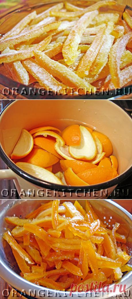 Цукаты из апельсиновых корок по-быстрому - Рецепты