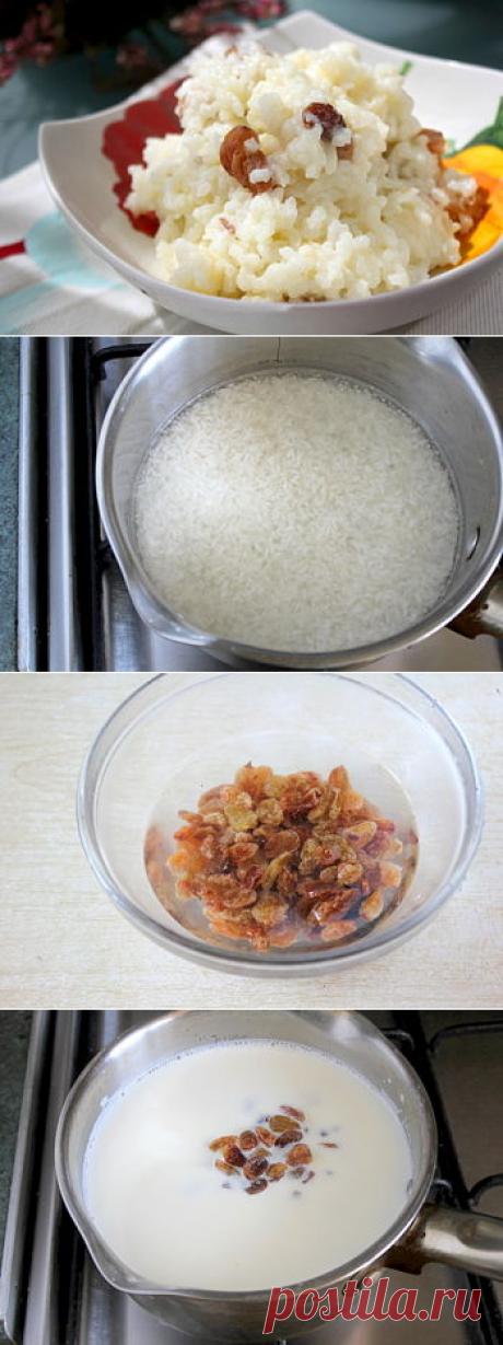 Рецепт каши рисовой с изюмом как в детском саду / Меню недели