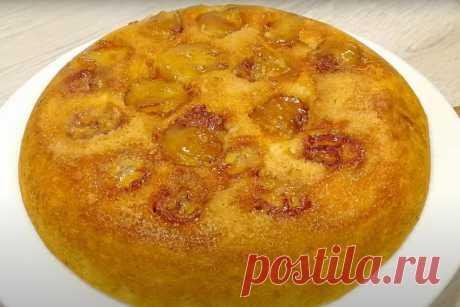Хоть с бананами или яблоками. На сковороде - воздушный и мягкий пирог. Тесто с 1 яйцом | Рецепты с Настей | Яндекс Дзен