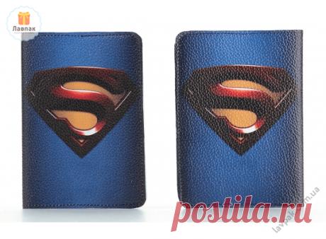 Superman - Супермен - Кожаная обложка на паспорт  → Купить за 199 грн. → Цена, Отзывы