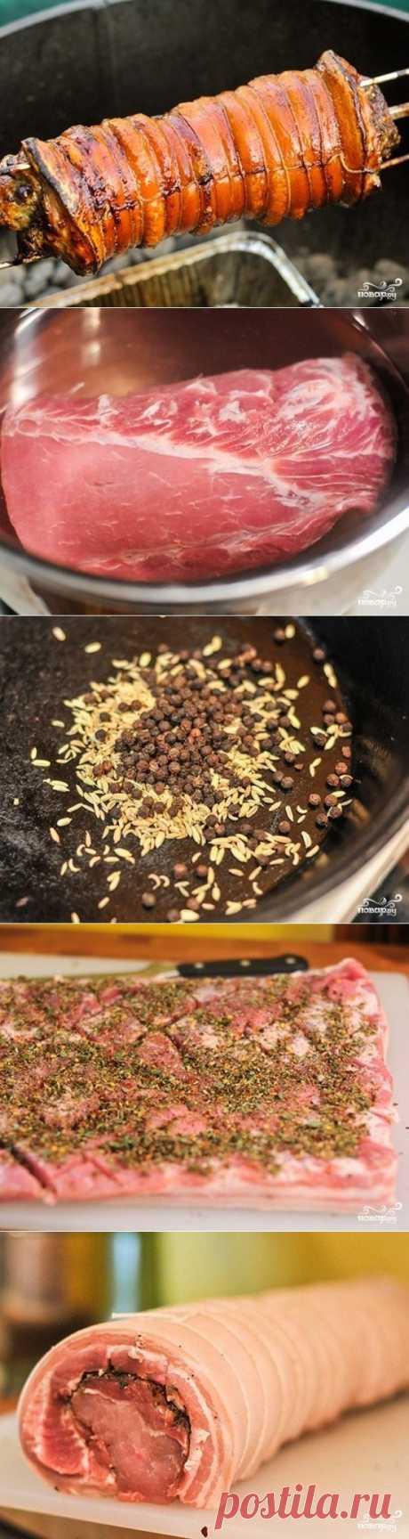 Поркетта - сочный мясной рулет для пикника!.