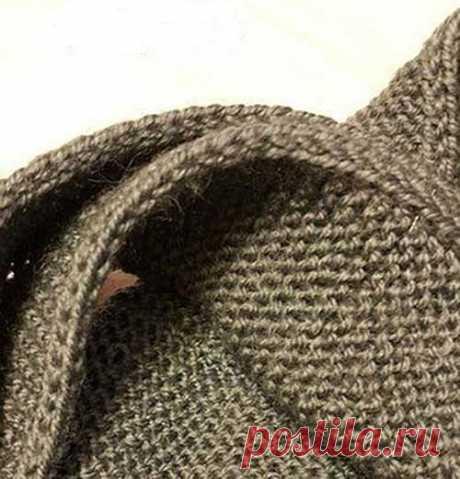 Как сделать красивую кромку вязаного изделия?