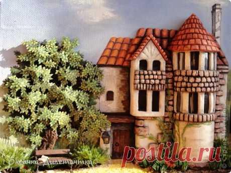 Замок из солёного теста