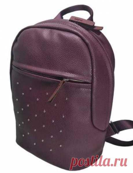 Рюкзак женский 2043-02 бордовый из экокожи в интернет-магазине Ollbag.ru