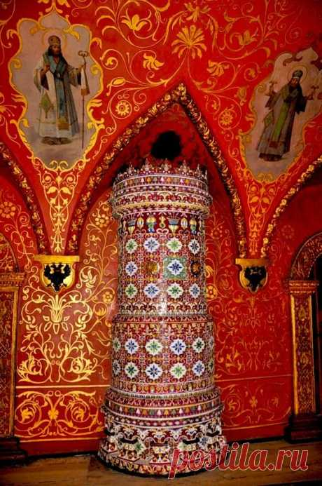 Inside The Terem Palace. Russian mosaic oven, Moscow Kremlin | Pinterest • World catalog of ideas