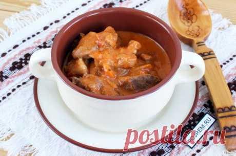 Goulash in the crock-pot - the recipe with a photo