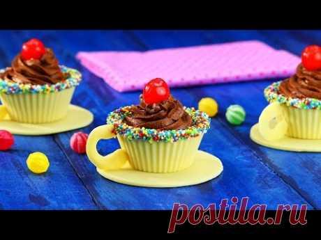 Шоколадные чашечки со сливочным муссом