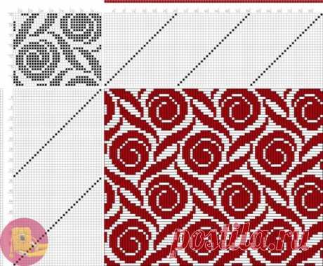 Схемы можно использовать и для филейного вязания, и для вязания жаккарда — Сделай сам, идеи для творчества - DIY Ideas