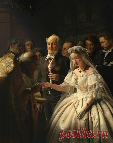 «Неравный брак»: старая картина в 3D