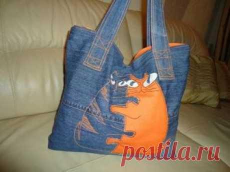 Стильный аксессуар: джинсовая сумка