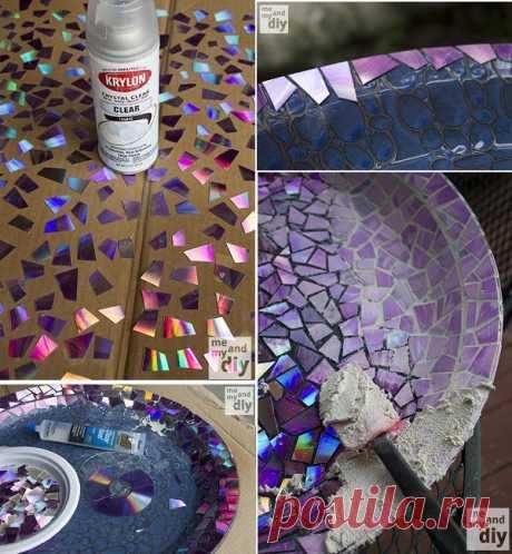 Блюдце украшенное мозаикой — Сделай сам