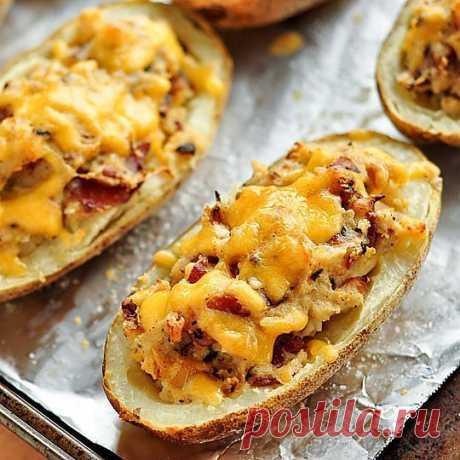 Запеченный картофель с беконом и сыром | Поваренный сайт