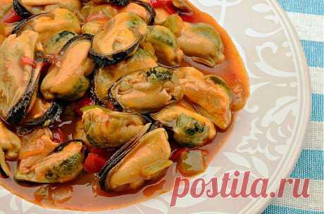Мидии в томатном соусе | Вкусные Рецепты