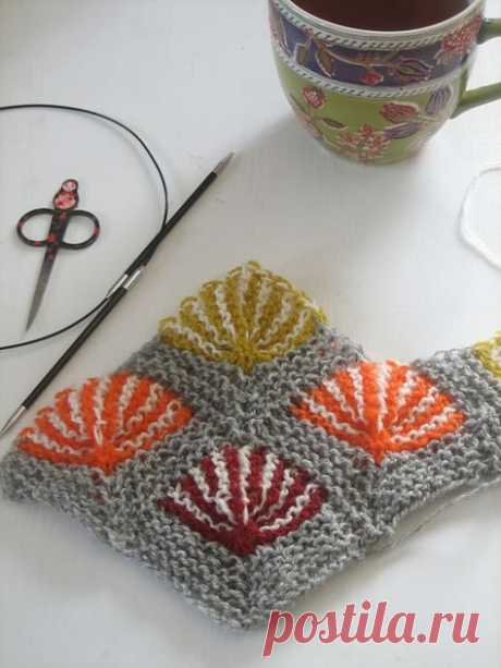 Ошеломляюще-красивое цветное вязание (спицы)