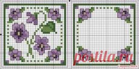 Схема для вышивки крестиком бисером