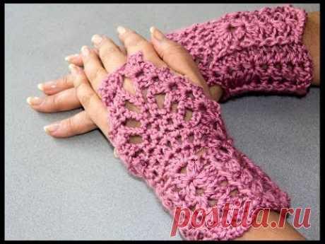 Crochet : Guantes sin dedos (Mitones) 2