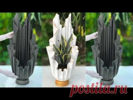 Beautiful And Easy - How To Make Beautiful Flower Pots At Home