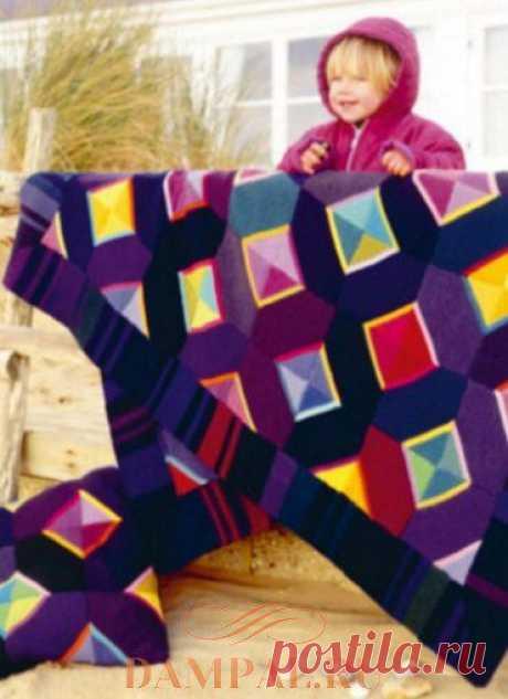 Плед и подушка «Abstract Beauty» | Вязание спицами