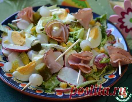 Салат с вареным яйцом - кулинарный рецепт