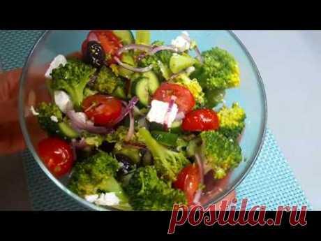 САЛАТ ИЗ БРОККОЛИ. Как вкусно и быстро приготовить брокколи  Broccoli salad | Food | Easy recipe