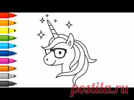 Coloring - How to draw unicorn