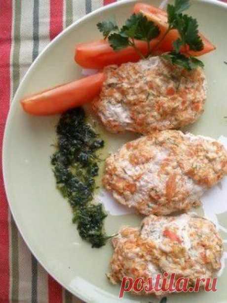 Куриные паровые котлеки под соусом от Ю.Высоцкой