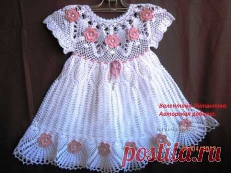 Платье, панамка и пояс крючком для девочки