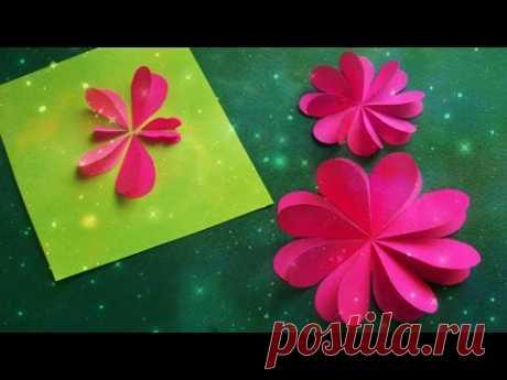 Как Быстро Вырезать Сердечки Из Бумаги. Цветы, Бабочки на Открытки 8 Марта, День Рождения - YouTube
