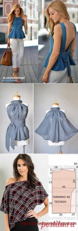 Моделирование оригинальной блузки — Сделай сам, идеи для творчества - DIY Ideas