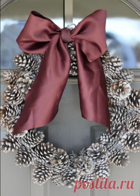 Новогодние украшения из шишек своими руками | Журнал Домашний очаг