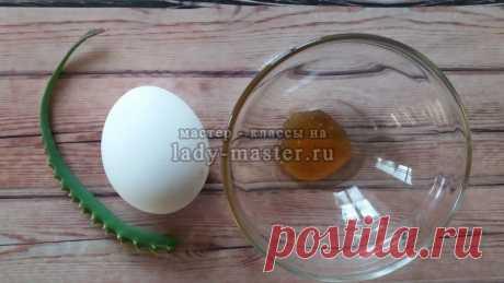 Простая домашняя маска для густоты волос с алоэ и яйцом