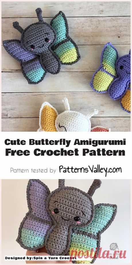 Cute & Easy Butterfly Amigurumi [Free Crochet Pattern] #амигуруми  #вязание #вязаниекрючком #handmadedoll #рукоделие #ручнаяработа #amigurumis #amigurumi #amigurumidoll #amigurumipattern #freepattern #freecrochetpatterns #crochetpattern #crochetdoll #crochettutorial #patternsforcrochet #pattern #tutorial #häkeln
