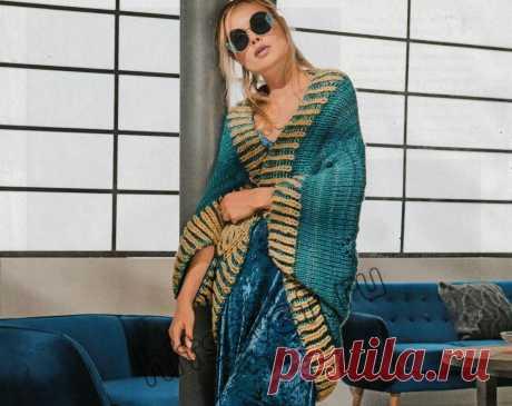 Вязаный шраг - Хитсовет Модная модель для женщин вязаного шрага со схемой и пошаговым бесплатным описанием вязания.