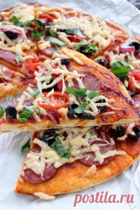 La pizza sobre el kéfir en el horno, simple poshagovyy la receta | Mágico Eда.ру