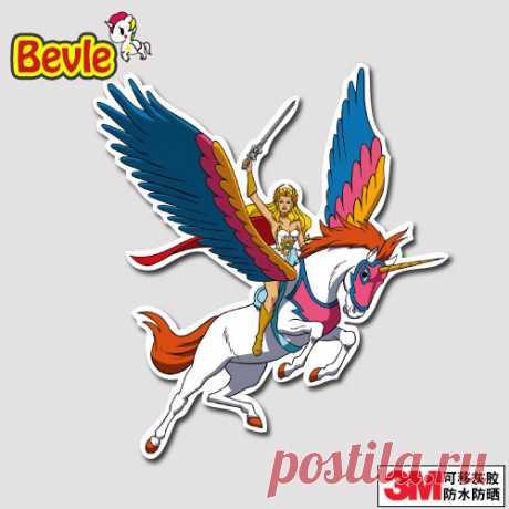 Bevle Queen Pegasus граффити Чемодан ноутбука Наклейка игрушки велосипед Автомобиль Мотоцикл телефон сноуборд Смешные каракули Прохладный 3 м Стикерыкупить в магазине Doinbby StoreнаAliExpress